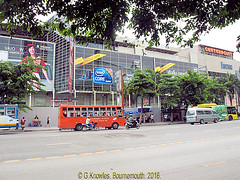 Central World Plaza, Ratchadamri road, after the Red Shirt Riots and fire in 2010, boarded up, Pathumwan District, Bangkok, Thailand. (samurai2565) Tags: pathumwan erawanshrine hardrockcafe siamsquare centralworldplaza mbk gaysorn mahboonkrong bangkok thailand bigc phayathairoad gateway jimthompsonhouse chulalongkornuniversity ratchaprasong royalbangkoksportsclub chitlom rama1road lumphinipark sampengmarket khlongthommarket chinatown skytrain citypillarshrine bobaemarket