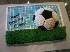 Football Soccer cake by Sharon