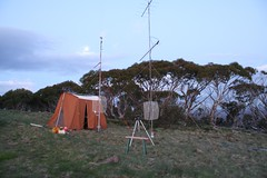 """Field day station on Mt Ginini, after sunset (1/2 sec exp) • <a style=""""font-size:0.8em;"""" href=""""http://www.flickr.com/photos/10945956@N02/5202201302/"""" target=""""_blank"""">View on Flickr</a>"""