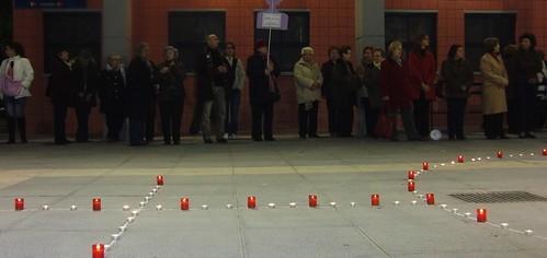 manifestación contra la violencia hacia las mujeres