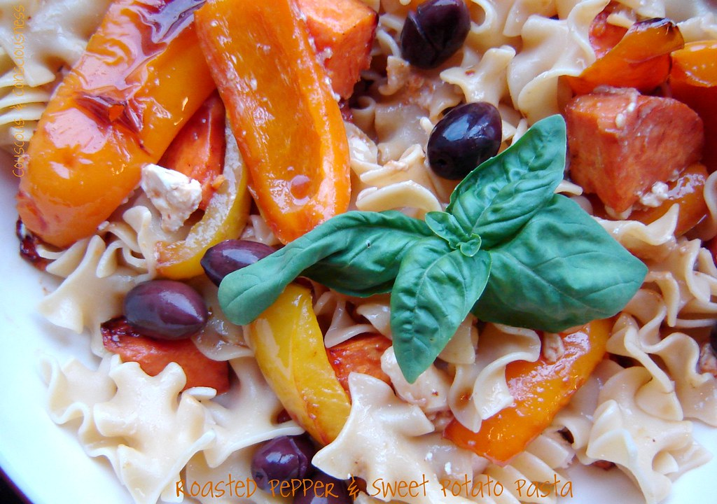Roasted Pepper & Sweet Potato Pasta 4