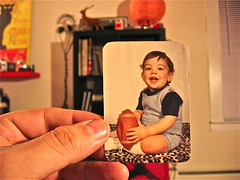 Sel-Portrait Infant QB On Leopard Skin (Wires In The Walls) Tags: football leopardprint 1970s funnyportrait