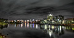 The Maribyrnong river bank at night [Editing in progress] (saahmadbulbul) Tags: light night canon australia melbourne f22 hdr digitalcameraclub maribyrnongriver tonemapped longexposure50d photomatix4 salahuddinahmadphotography exploringfootscray