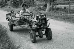 Father & Son (5293) (TheHouseKeeper) Tags: tractor man monochrome rural blackwhite kid child folk father philippines transport machine utility son transportation vehicle farmer trailer launion mateo province pilipinas farmmachinery thehousekeeper handtractor kuliglig bacnotan georgemateo