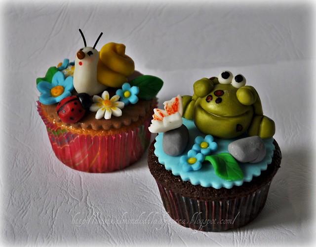 cupcake decorati..Lumaca e Ranocchia (13)