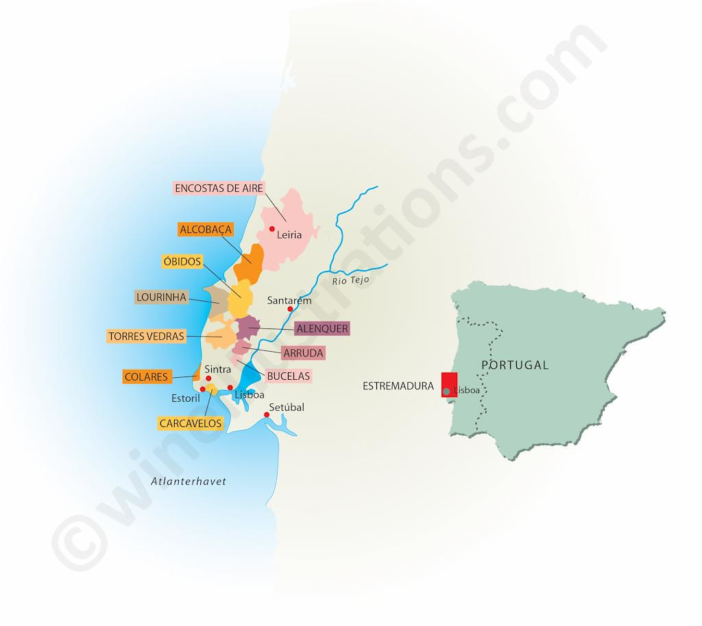The Worlds Newest Photos By Wine Illustrations Flickr Hive Mind - Portugal estremadura map
