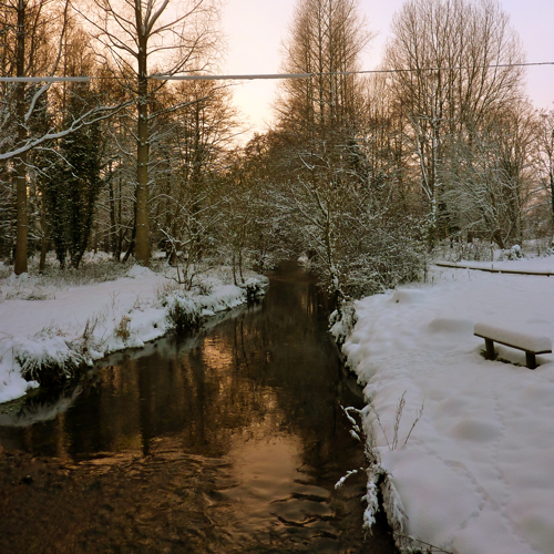 Chilham in the snow ~ river