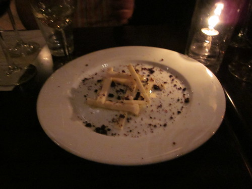Ludobites 6.0 (at Max), Sherman Oaks, CA - December 2010 - Cantal Chesse Mikado, White Chocolate, Candied Black Olive