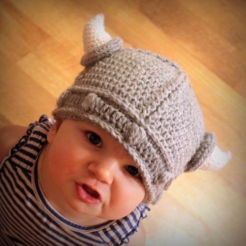 Free Crochet Pattern For Helmet Hat : New Crochet Pattern *Lael Viking Helmet* - mamacheemamachee