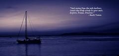 sail away (cheinera) Tags: blue light beach night sailboat dark boat sailing mark navy away midnight sail twain cheinera
