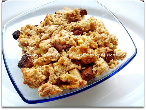 Apple & Chocolate crumble