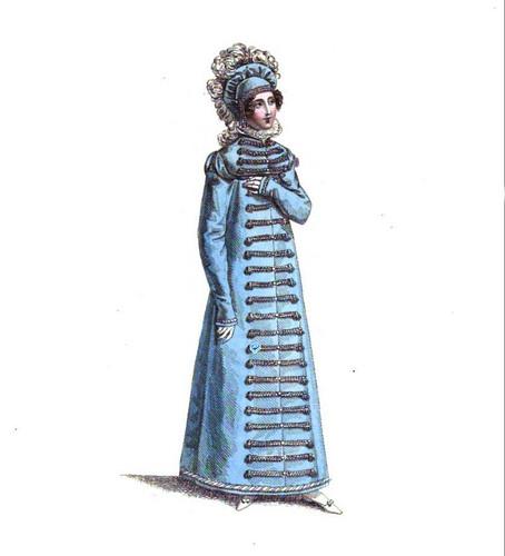 english hat fashion vintage french costume bonnet regency fashionplate headwear millinery 1818 outerwear carriagedress