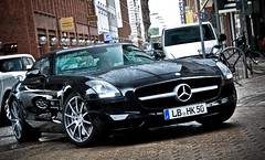 SuperLeichtSport (hsvfan-jan) Tags: car wall mercedes hamburg 63 hh supercar cl spotting sls amg elegance neuer spotten transaxle worldcars