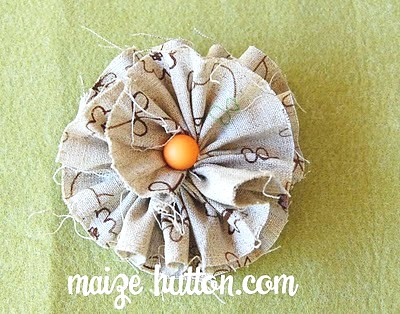 Frayed fabric flower