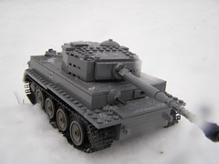 Tiger I's snow day (Justsuper9) Tags: winter 1 war lego tiger wwii