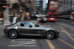 Matte Bronze. (Alex Penfold) Tags: camera brown london cars alex sports car bronze canon photography benz photo cool shot awesome picture fast super exotic photograph panning supercar matte sls exotica amg 2010 supercars penfold mecerdes 450d hpyer
