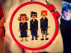 HARRY POTTER! (minxual) Tags: crossstitch crafts harry potter harrypotter hobby hobbies needlecraft hermionegranger ronweasley