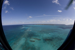 Cayman Islands Helicopter tour (blueheronco) Tags: tour aerialview helicopter caymanislands grandcayman caribbeansea fisheyelense
