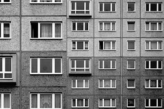 to the exclusion (herzlos01) Tags: bw canon concrete blackwhite box live gray fair case communism worker residence accommodation cheap gdr stay germandemocraticrepublic habitation lockbox residentialbuilding herzlos eos40d danielhertrich workeraccommodation