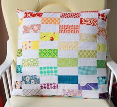 Rainbow Coin Pillow (Darci - Stitches&am