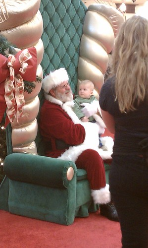 Rivers first visit with Santa