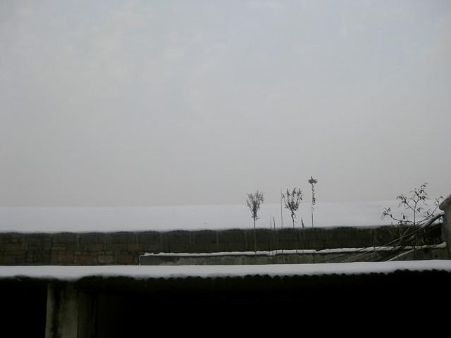 大雪的屋顶