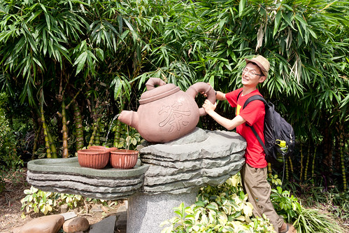 Me with giant teapot