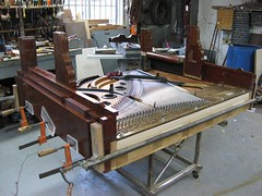 Berlin Piano - halfway through surgery at Piano Montreal (Ponyta!) Tags: music ontario berlin montral antique montreal victorian piano kitchener beethoven restored classical upright mozart musique vivaldi droit classique victorien restaur