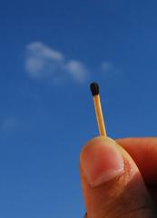 Match Smoke (.ღ♫°Qanas°♫ღ.) Tags: nikon finger smoke air uae match abu dhabi 2010 qanas explored