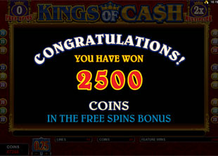 free Kings of Cash free spins 2