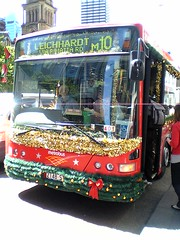 Sydney m10 Metrobus Sydney with Christmas decorations