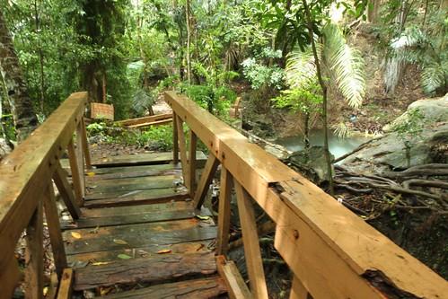 Oenesu, a small waterfall near Kupang, Indonesia (broken bridge) - 12