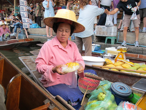 Thai Floating Market Food Seller