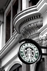 Starbucks (Bidwell, Coby) Tags: seattle england london coffee architecture saturated drink starbucks espresso caffeine