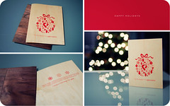 Wooden Christmas Card & Envelope (isayx3) Tags: christmas wood xmas 35mm happy design wooden nikon holidays triptych dof graphic bokeh card f2 nikkor studios d3 plainjoe isayx3 plainjoephotoblogcom