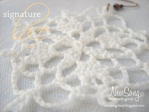 cotton lace earrings