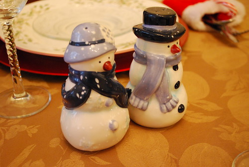 Snowmen salt & pepper shakers