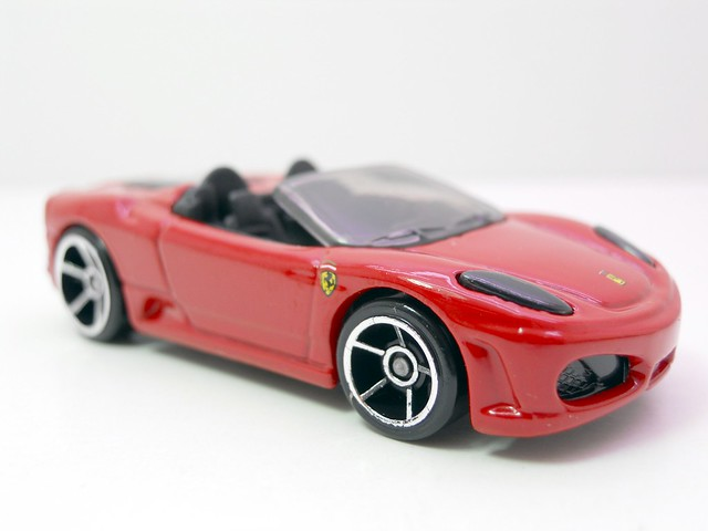 hot wheels ferrari f430 spider red (2)