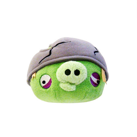 Angry Bird Plush / Soft Toy - Helmet Pig