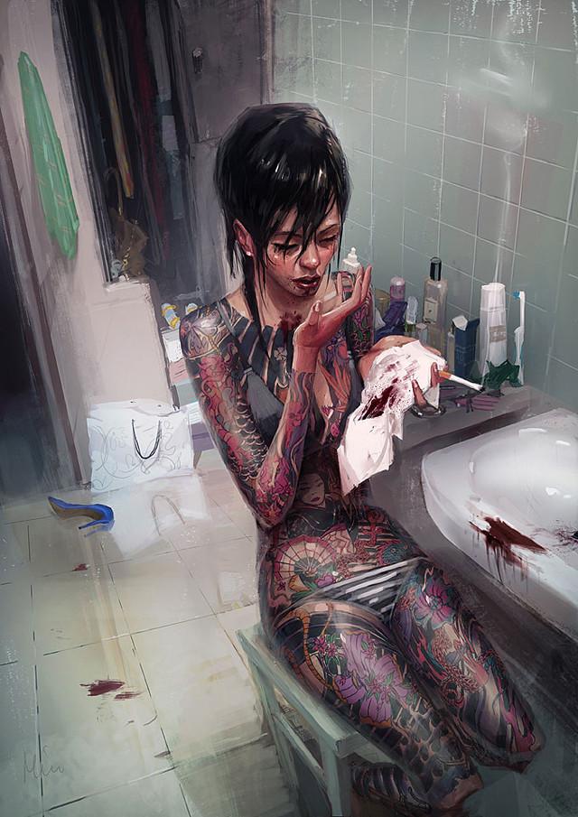Yakuza_Girl_by_maykrender