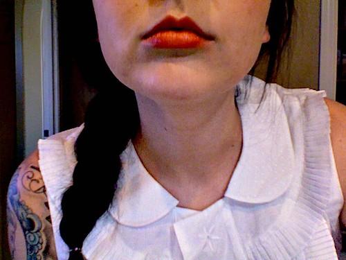 red lipstick!