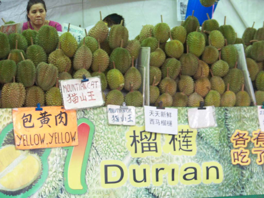 durians for sale ,Chinatown
