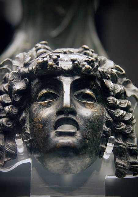 Bronze mask of a maenad, Roman, about 1c AD