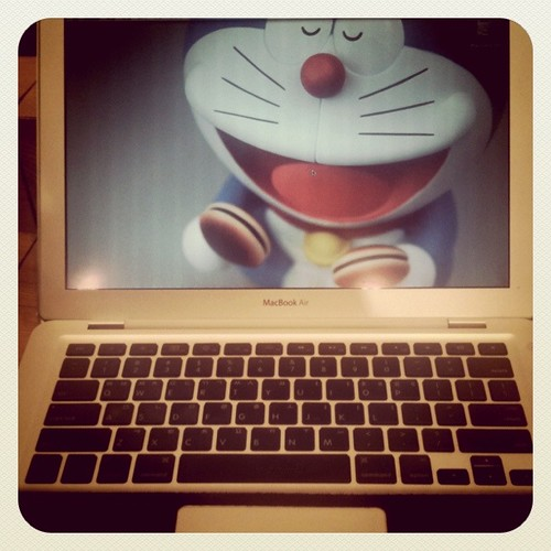 My mac & Doraemon