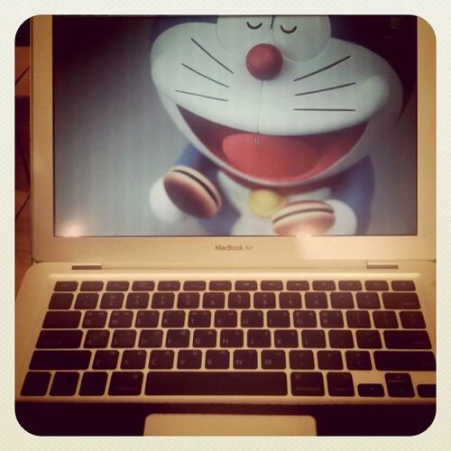 My mac & Doraemon