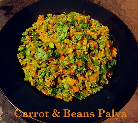 Carrot Beans Palya