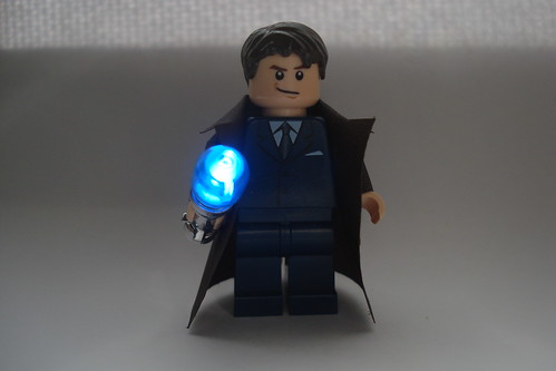 Dr. Who custom minifig with glowing screwdriver