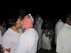 Men Kissing The White Party Vizcaya Museum and Gardens