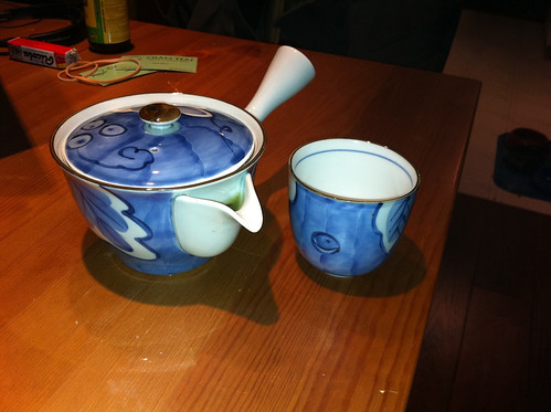 New blue tea set