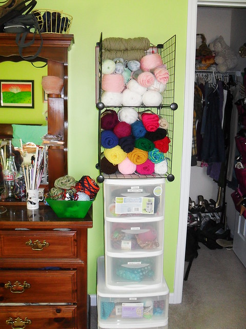 case of yarn stash at Tyler Handmade